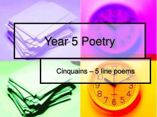 Year 5 Poetry