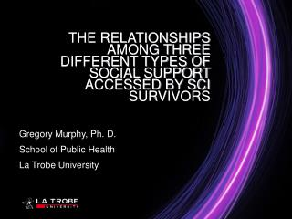 THE RELATIONSHIPS AMONG THREE DIFFERENT TYPES OF SOCIAL SUPPORT ACCESSED BY SCI SURVIVORS