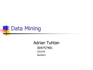 Data Warehousing  Data Mining  Privacy