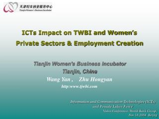 ICTs Impact on TWBI and Women s Private Sectors  Employment Creation