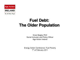 Fuel Debt: The Older Population