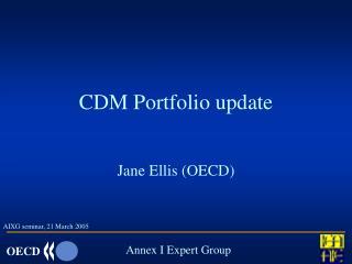 CDM Portfolio update