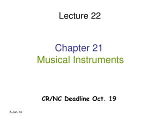 Chapter 21  Musical Instruments