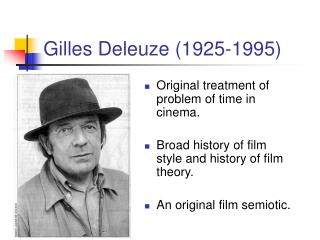 Gilles Deleuze 1925-1995