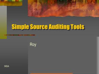 Simple Source Auditing Tools