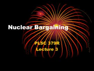Nuclear Bargaining