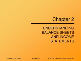 UNDERSTANDING BALANCE SHEETS AND INCOME STATEMENTS