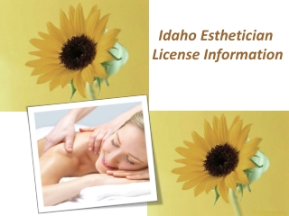 Idaho Esthetician License Information