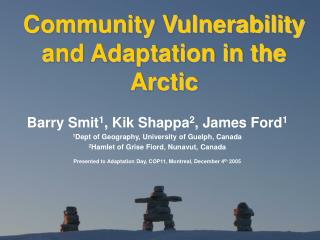 Community Vulnerability and Adaptation in the Arctic