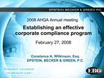 2008 AHQA Annual meeting