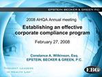 2008 AHQA Annual meeting