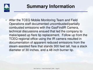 Summary Information