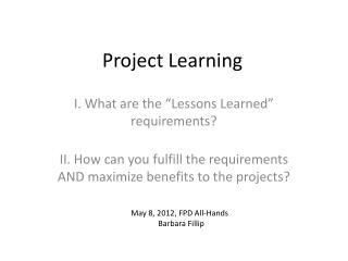 Project Learning