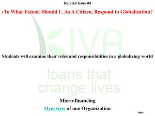 Related Issue 4 To What Extent Should I , As A Citizen, Respond to Globalization