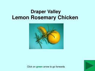 Draper Valley  Lemon Rosemary Chicken