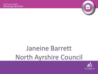 Janeine Barrett North Ayrshire Council
