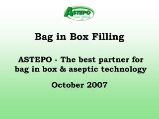 Bag in Box Filling