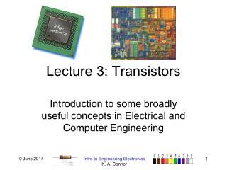 Lecture 3: Transistors