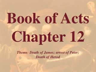 Book of Acts  Chapter 12