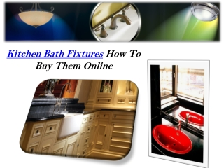 Kitchen Bath Fixtures