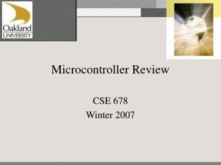 Microcontroller Review