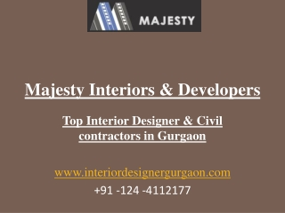 Interior Designers and Building contractor in Gurgaon