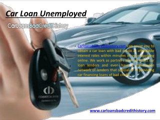 Can you get a car loan with no job