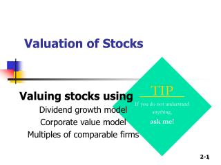 Valuation of Stocks