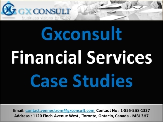 Gxconsult - Financial- Services - CaseStudies