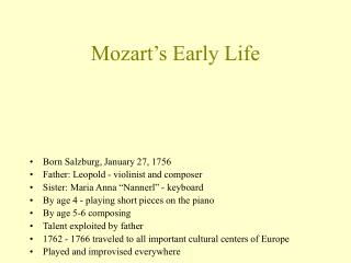 Mozart s Early Life