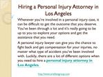 Personal Injury Attorney In Los Angeles-How to Hire