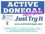 Donegal Sports Partnership   Active Donegal