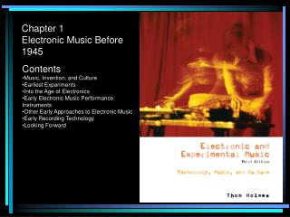 Chapter 1 Electronic Music Before 1945