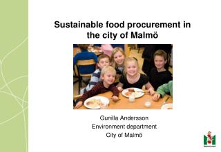 Sustainable food procurement in the city of Malm