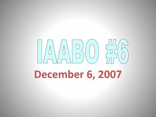 December 6, 2007