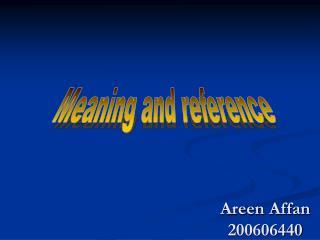 Areen Affan 200606440