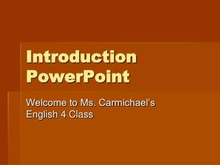Introduction PowerPoint