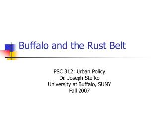 Buffalo and the Rust Belt