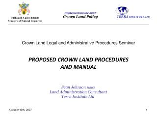 Crown Land Legal and Administrative Procedures Seminar