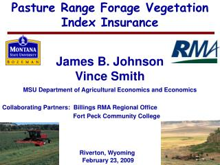 Pasture Range Forage Vegetation Index Insurance