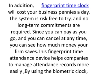 fingerprint time clock