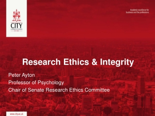 Integrity in Research Avoiding and Investigating Research Misconduct