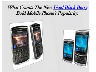 Used Black Berry