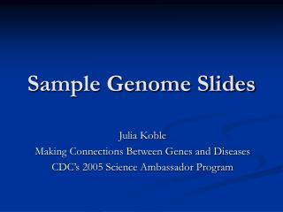Sample Genome Slides