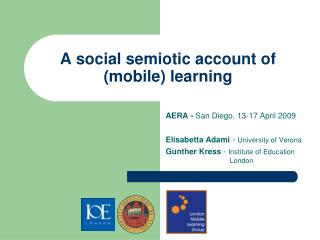 A social semiotic account of  mobile learning
