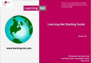 Learning-Net Starting Guide