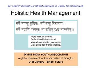 Holistic Health Management