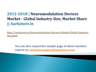 Neuromodulation Devices Market - Global Industry Size, Marke