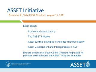 ASSET Initiative