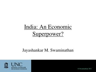 India: An Economic Superpower